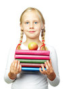 Education back to school cute child with books Stock Photos