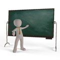 The education of a board showing the skill of teachers and students Royalty Free Stock Photo