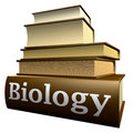 Education books - biology Royalty Free Stock Images