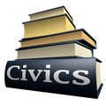 Education books - civics Royalty Free Stock Image