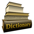 Education books - dictionary Stock Photos