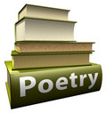 Education books - poetry Royalty Free Stock Images