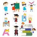 Education character set Royalty Free Stock Images