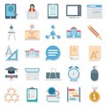 Education Color Isolated Vector Icons Editable Best For Education Projects