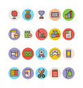 Education Colored Vector Icons 13 Royalty Free Stock Photo