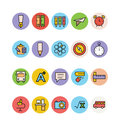 Education colored vector icons get all ready for school with these the end of summer and beginning of fall means going back to Stock Image