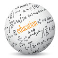 Education communication world illustration of on circle Royalty Free Stock Image