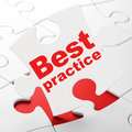 Education concept: Best Practice on puzzle Royalty Free Stock Photography