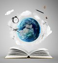 Education concept book and earth Royalty Free Stock Photography