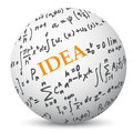 Education Concept with Formulas Royalty Free Stock Photo