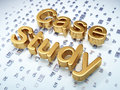 Education concept golden case study on digital background d render Royalty Free Stock Photography