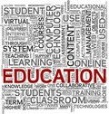 Education concept in tag cloud Stock Image