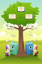 Education concept a vector illustration of a learning tree Royalty Free Stock Image
