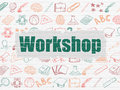 Education concept: Workshop on wall background Royalty Free Stock Photo