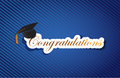Education congratulations sign background on a blue lines pattern Stock Photo