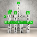Education crossword room Royalty Free Stock Photo