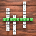 Education crossword table Royalty Free Stock Photo