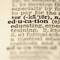 Education dictionary entry. Stock Photos