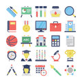 Education Flat Colored Icons 2 Royalty Free Stock Photo
