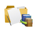 Education folder objects illustration design over a white background Stock Photo