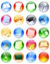 Education glossy balls Royalty Free Stock Photography