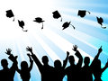 Education graduation means educate study and tutoring indicating school qualified Royalty Free Stock Photo