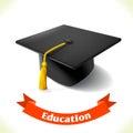 Education icon graduation hat