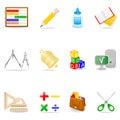 Education icon set Stock Photography
