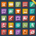 Education icon set flat design Royalty Free Stock Images
