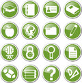 Education icon set school Stock Photos