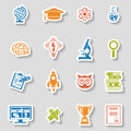 Education Icon Sticker Set Royalty Free Stock Photo