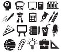 Education icons Royalty Free Stock Photos