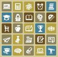 Education icons Royalty Free Stock Photo