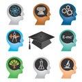 Education_icons 免版税图库摄影