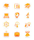Education icons | JUICY series Royalty Free Stock Photo