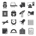 Education icons set of Stock Photos