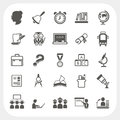 Education icons set eps don t use transparency Royalty Free Stock Image