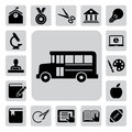 Education icons set. Illustration Stock Photos