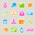 Education icons set illustration eps Royalty Free Stock Photography