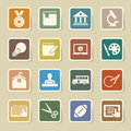 Education icons set illustration eps Royalty Free Stock Photos