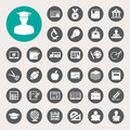 Education icons set illustration eps Royalty Free Stock Images