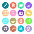 Education icons set vector illustration of Royalty Free Stock Photos