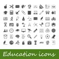 Education icons vector illustration this is file of eps format Royalty Free Stock Photography