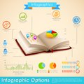 Education infographic illustration of in open book Royalty Free Stock Photos