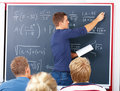 Education - Male teacher teaching algebra Royalty Free Stock Photography