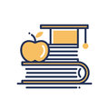 Education - modern vector single line icon