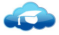 Education online icon on white Royalty Free Stock Image
