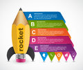 Education option Infographics design template. Rocket of a pencil for educational and business presentations and brochures.