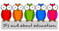 Education owls Stock Photo