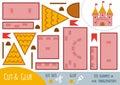 Education paper game for children, Castle